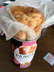 非常食のパンの缶詰