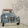 透明水彩で自動車を描く | 彩色その1