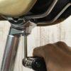クロスバイクのサドル前後位置を調整するやり方
