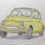 透明水彩で自動車を描いてみる | 彩色