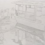 透明水彩で描く風景画 │ 京都伏見の十石舟